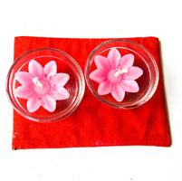 Pink Wax Diyas (4 Nos)