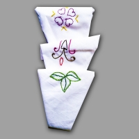 Ladies White Handkerchief - Embroidery (3 in a pack)