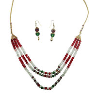 Glowing Antique Multi-Color Necklace And Hangings