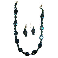 Dazzling Blue Necklace And Earrings That Looks Stunning