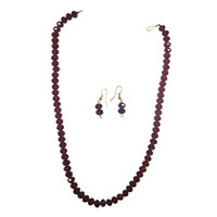 Transform Your Look With Maroon Set Of Necklace And Hangings