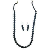 Super Elegant Black Pearl Necklace and Earring Set