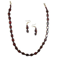 Get An Elegant Look With Shiny Wine Red Set