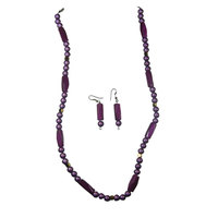Adorn Your Beauty With Purple toned Necklace And Hangings
