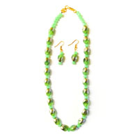 Light Green and Golden Necklace