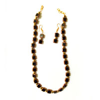 Brown and Golden beads Necklace
