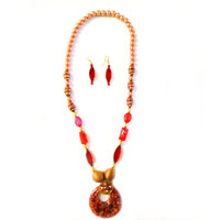 Multicolor Necklace with Pendant