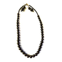 Necklace with round shaped black color beads