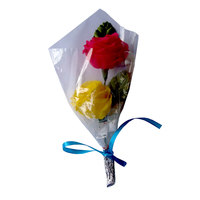 Artificial Flower Bouquet with 2 flowers (5 Nos.)