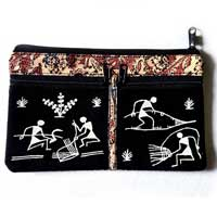 Warli Hand Purse with Pockets