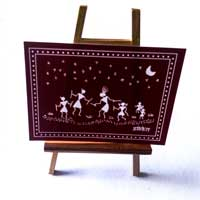 Easel with Warli Card