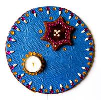 Plastic Rangoli Platter