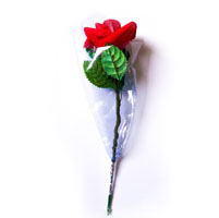 Single Red Flower- Artificial Bouquet (10 Nos)