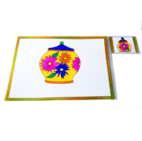 Table Mat Set (4 dish mats + 4 coasters)